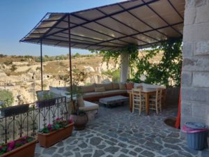 Terrace of the cave hotels